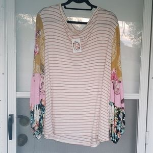 NWT ODDY Floral Boutique Brand Top